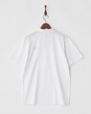 ホワイト  COOLMAX ロゴ刺繍入り衿ポロシャツ|MEN見る