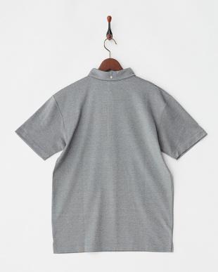 ブラック  COOLMAX ロゴ刺繍入り衿ポロシャツ|MEN見る