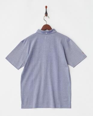 ネイビー  COOLMAX ロゴ刺繍入り衿ポロシャツ|MEN見る