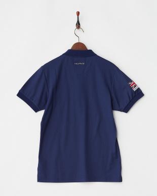 ネイビー  Polygiene STAY FRESH ユニオンジャックワッペンポロシャツ|MEN見る