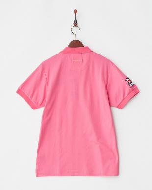 ピンク  Polygiene STAY FRESH ユニオンジャックワッペンポロシャツ|MEN見る