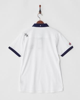 ホワイト  Polygiene STAY FRESH 配色ポロシャツ|MEN見る
