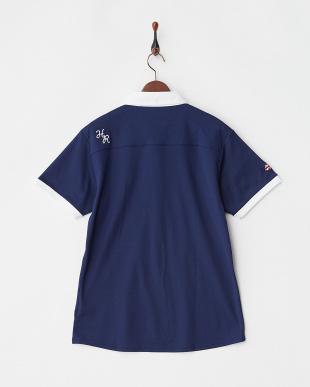 ネイビー  Polygiene STAY FRESH 配色ポロシャツ|MEN見る