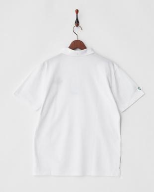 ホワイト  COOLMAX サイドロゴマーク刺繍ポロシャツ|MEN見る