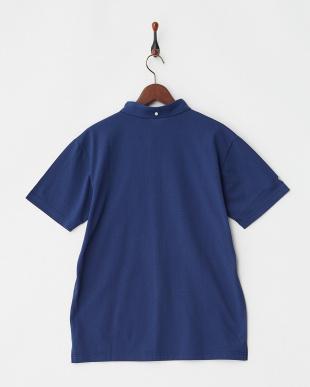 Dブルー  COOLMAX サイドロゴマーク刺繍ポロシャツ|MEN見る