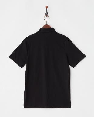 ブラック  COOLMAX ホリゾンタルカラー調ポロシャツ|MEN見る
