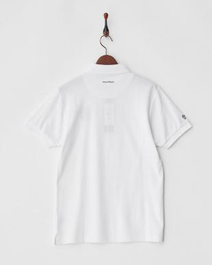 ホワイト  Polygiene STAY FRESH ラウンドモチーフ刺繍ポロシャツ|MEN見る