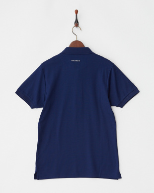 ネイビー  Polygiene STAY FRESH ラウンドモチーフ刺繍ポロシャツ|MEN見る