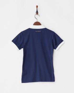ネイビー  Polygiene STAY FRESH サイドロゴマーク刺繍ポロシャツ|WOMEN見る