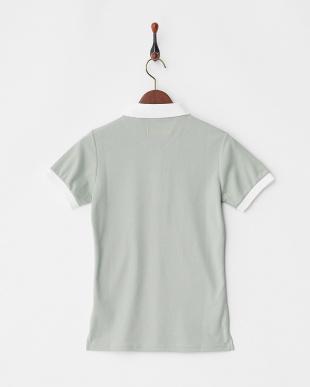 グレー  Polygiene STAY FRESH サイドロゴマーク刺繍ポロシャツ|WOMEN見る