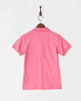 ピンク  Polygiene STAY FRESH サイドロゴマーク刺繍ポロシャツ|WOMEN見る