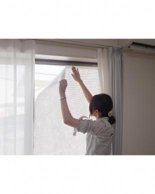 窓貼りすだれ ホワイト フリーカット 90×100cm見る