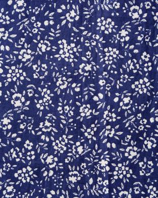 ブルー 花柄スカート見る