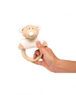 オーガニック・ラトル『クマ』 木製歯固め付き見る