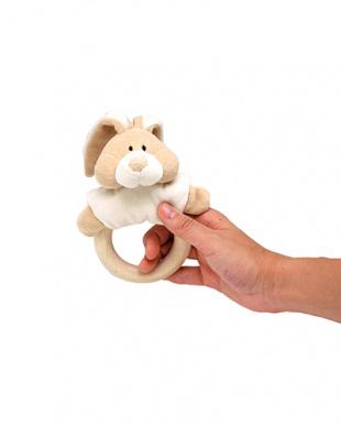 オーガニック・ラトル『ウサギ』 木製歯固め付き見る