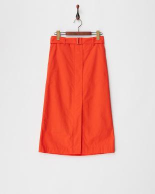 RED a-ツイルベルト付スカート見る