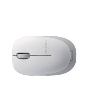 シルバー  無線BlueLEDマウス 3ボタン/軽量見る