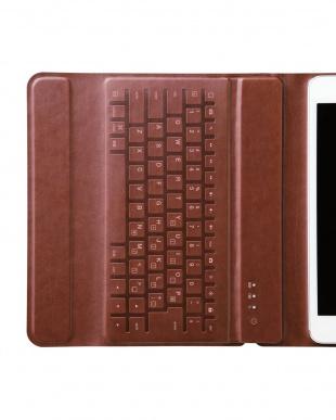ブラック Bluetoothキーボード/イタリア製高級ソフトレザー/ケース型/iPad mini 7.9インチ用見る