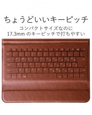 ブラック Bluetoothキーボード/イタリア製高級ソフトレザー/ケース型/iPad 9.7インチ用見る