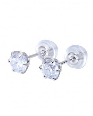 Pt900 天然ダイヤモンド 計0.7ct  6本爪 プラチナ スタッドピアス見る