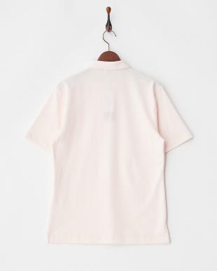 ライトピンク  ワンポイントシシュウポロシャツ見る
