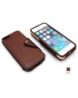Brown  MODERN CLASSIC LEATHER EDITION iPhone SE/5s/5用見る