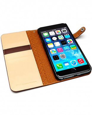 BROWN  Premium calf leather diary edition iPhone 6s Plus/6 Plus用見る