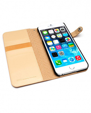 LIGHT BROWN  Premium calf leather diary edition iPhone 6s Plus/6 Plus用見る