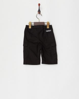 ブラック  カーゴ膝丈パンツ|KIDS見る