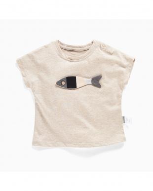 BEIGE 3D魚Tシャツ見る