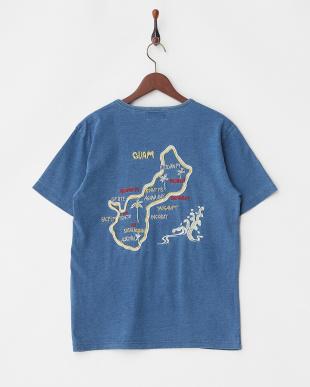 VINTAGE WASH インディゴ天竺刺繍Tシャツ(GUAM)見る