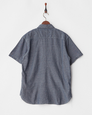 INDIGO ワッペン付きシャンブレーワークシャツ見る