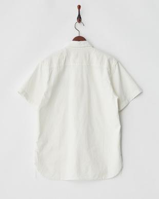 WHITE  ワッペン付きシャンブレーワークシャツ見る