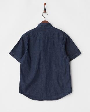 INDIGO ハンド刺繍S/Sデニムウエスタンシャツ見る