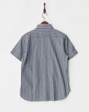 01 NAVY シャンブレーワークシャツ見る