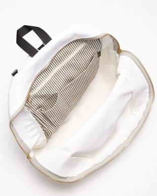 WH(ホワイト) 日本製 コーデュラポリエステル×栃木レザーリュック/バックパック/デイパック見る