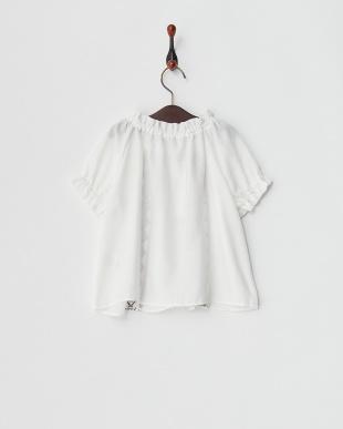 ホワイト 刺繍ブラウス見る