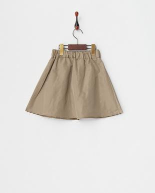 ベージュ  ポリエステルタフタスカート見る
