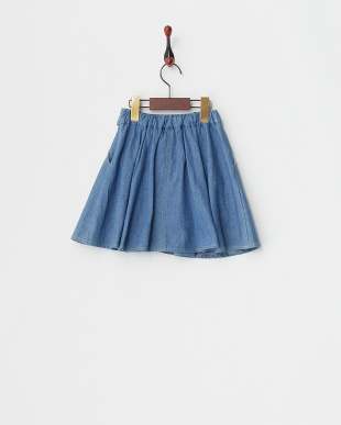 ライトブルー  デニムスカート・インナーパンツ仕様見る