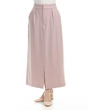 ペールピンク  バックリボンロングスカート見る