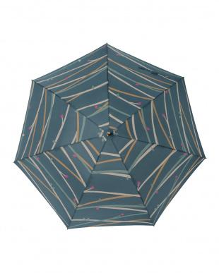 ツイギーフォレストグリーン  レジェ ワンタッチ軽量スリム傘見る