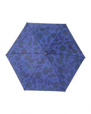フォレストネイビー レジェ フラット折りたたみ傘見る