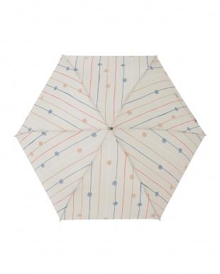 フルールドロップオフ レジェ フラット折りたたみ傘見る