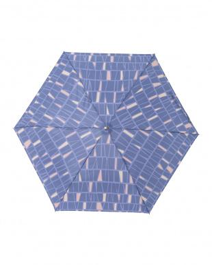 パヴェブルー レジェ フラット折りたたみ傘見る