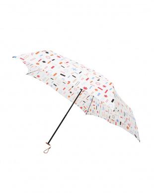 トゥインクル ホワイト 軽量折りたたみ傘(デザイン)見る