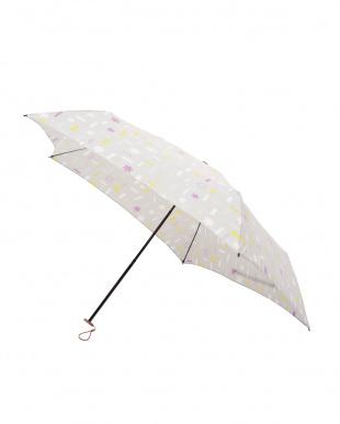 トゥインクル パールグレー 軽量折りたたみ傘(デザイン)見る
