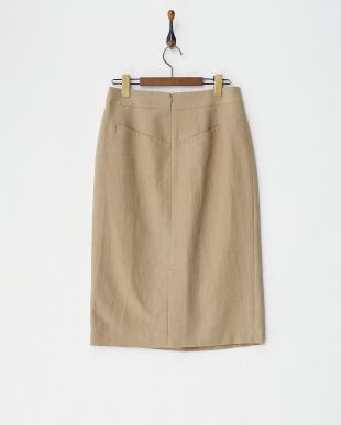 モカ  ウールコットンタイトスカート見る