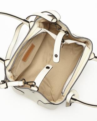 ベージュ  ショルダー付きシンプルハンドバッグ見る