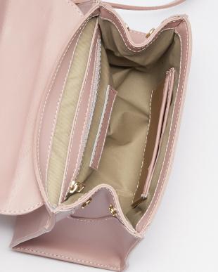 ピンク  ITALYハードレザーバッグ見る