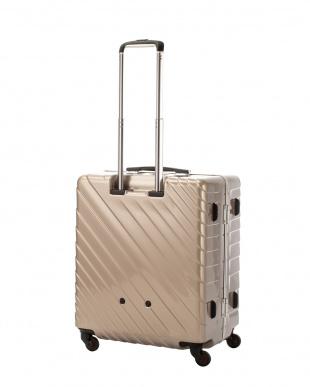 ゴールド  ナロースクエア L 80L スーツケース見る